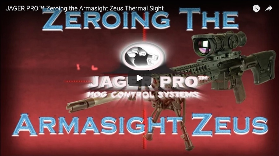 Zeroing the Armasight Zeus Thermal Sight Scope