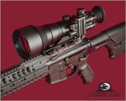 Night Vision Scope Mounted AR-15