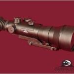 Night Vision Scope Right view Red