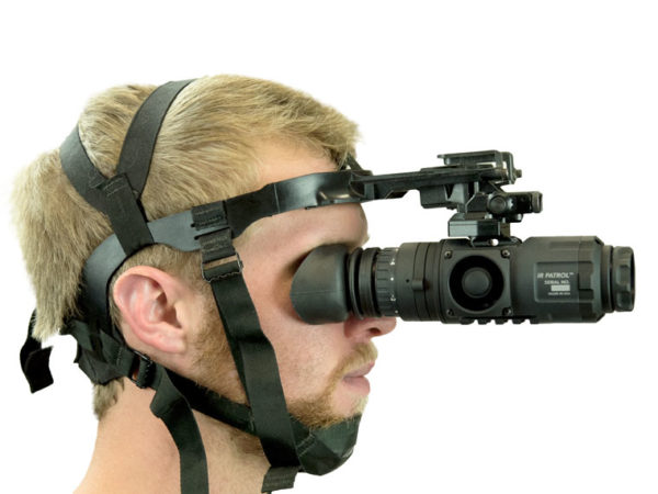 M300W on PVS 14 Head Harness Right View