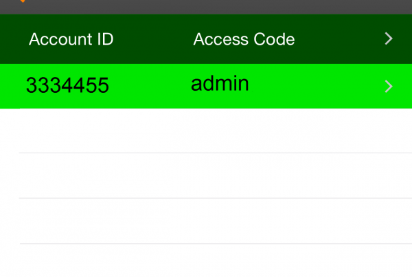 Account ID and Access Code